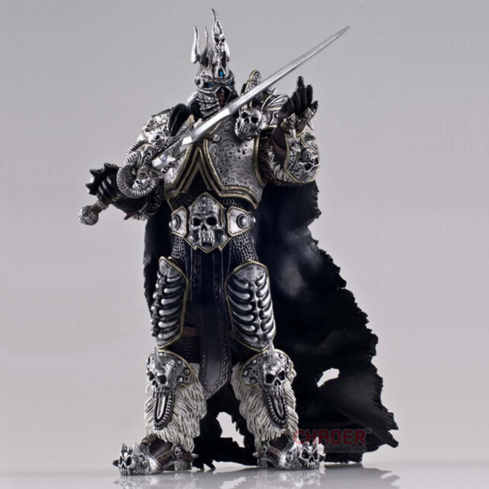 Game WOW Character FALL OF THE LICH KING ARTHAS Statue Figure Model Toys 16cm