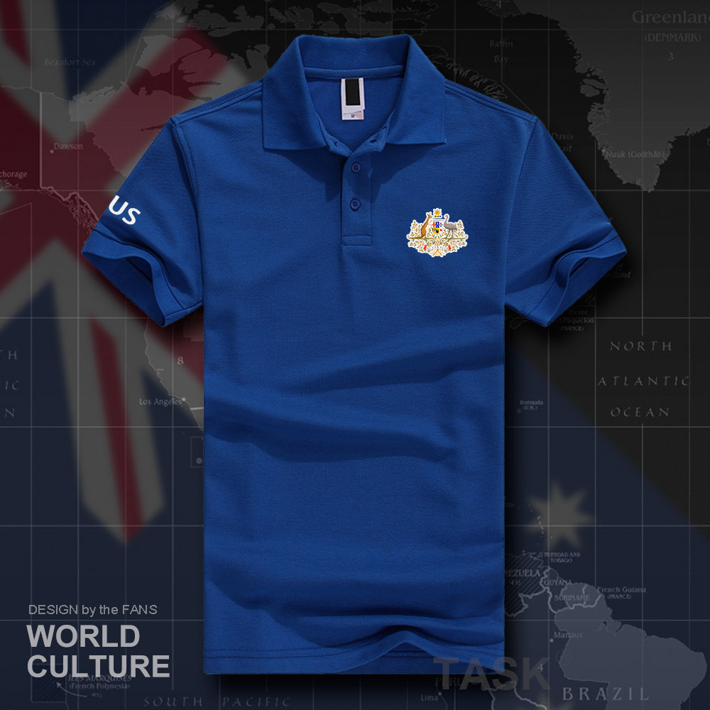 Commonwealth of Australia AUS Australian AU   polo   shirts men short sleeve white brands printed for country 2018 cotton nation 20