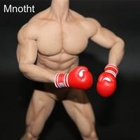 Mnotht Generic 1/6 Solider Boxer Gloves Model For Men And Women Glue Body Red Hobbies Gloves Model L30