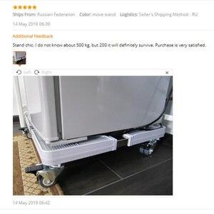 Image 5 - Suporte móvel para máquina de lavar, suporte ajustável para base móvel para geladeira universal