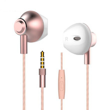 Newest 3.5mm Ergofit Earphone Metal Bass Earbuds with Microphone Headset for Computer Fone De Ouvido for mobile phone