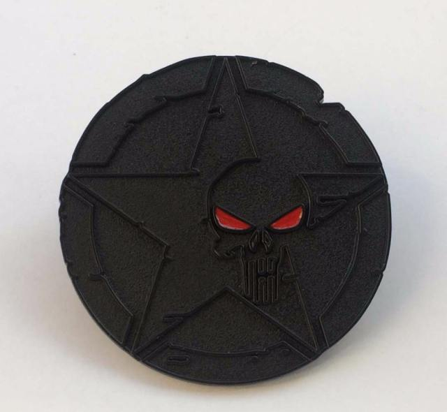 STAR SKULL PUNISHER METAL BUCKLE