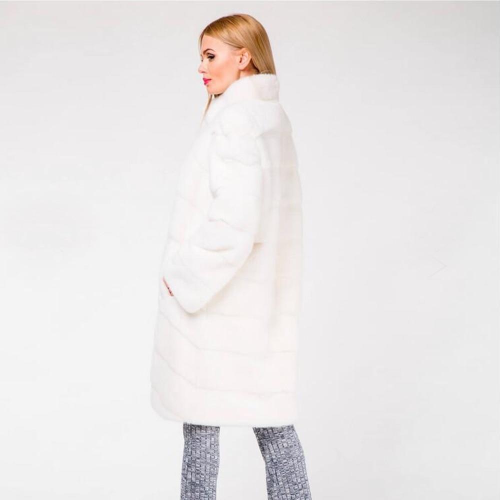 Nature Vison Nouveau White Complet Col Manteaux Slim Vente Couleur Pelt Montant De Femmes Hiver Chaude Vestes Chaud Avec Personnalisé Fourrure Réel qqxt4rwvf