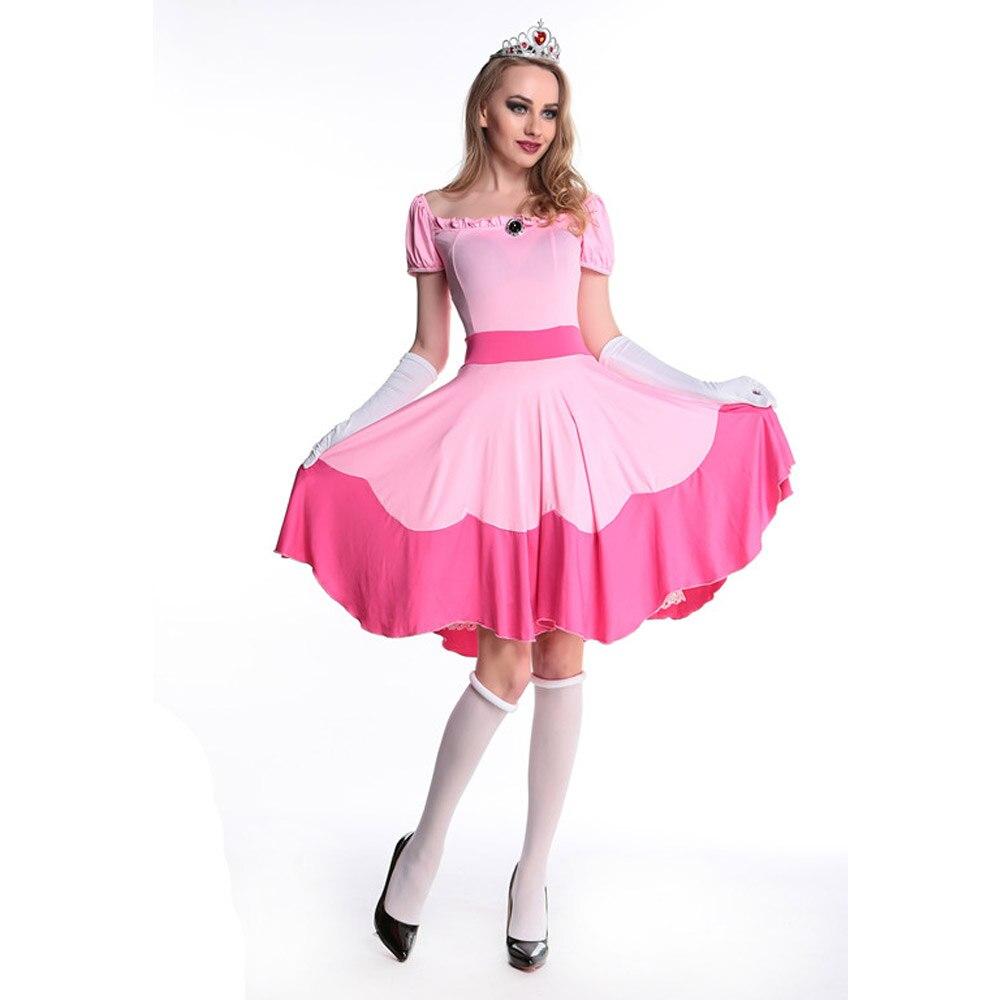 Popular Adult Princess Peach Costume-Buy Cheap Adult Princess ...