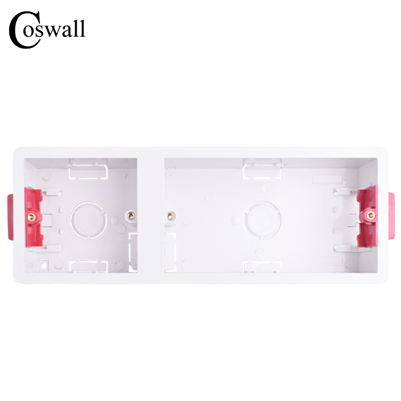 Coswall 86 + 146 Type Dry Lining Box For Gypsum Board Plasterboad Drywall 35mm Depth Wall Switch BOX Wall Socket Cassette