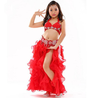 New High Quality Oriental Dancing Set Dresses Costumes For Kids Children Girls Sexy Stage Performance Clothes