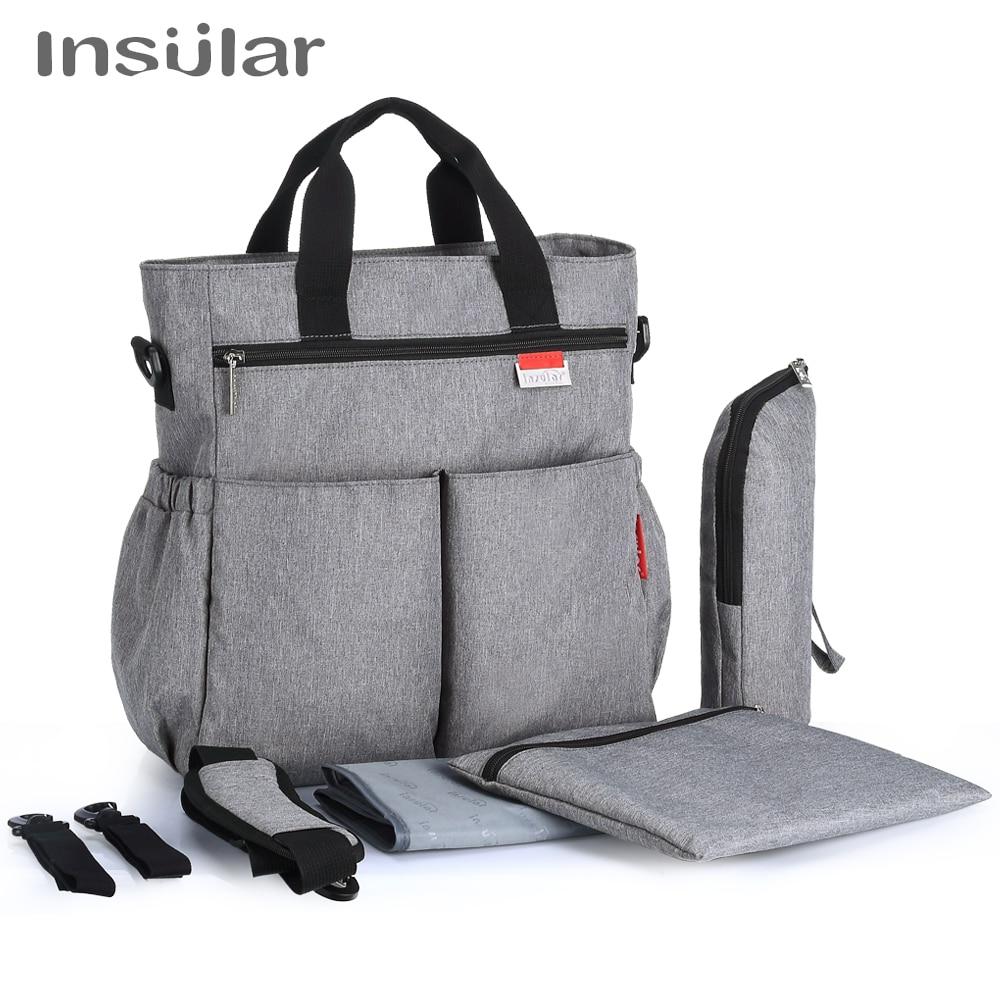 INSULAR Fashion Baby Nappy Bags Bolso Maternidad Diaper Bag Mother Bag Maternity Mummy Handbag Waterproof Baby Bag Stroller