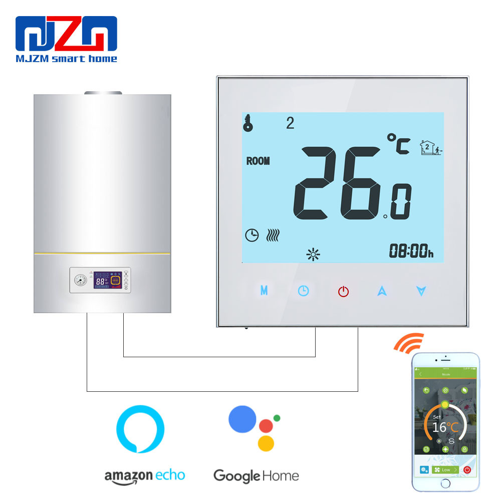 MJZM GL 1000 WiFi Thermoregulator for Gas Boiler Heating Temperature Regulator Alexa Voice Control Thermostat for