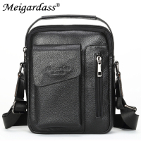 MEIGARDASS Genuine Leather Men's Bags Messenger Shoulder Bag male Crossbody bags for men Purse iPad bags Business Flap Handbag