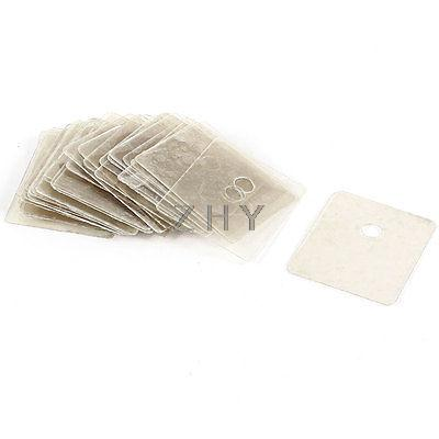TO-247 Transistor 25mmx20mmx0.2mm Insulation Pad Sheet Mica Insulator 30 Pcs aok20b135d1 to 247