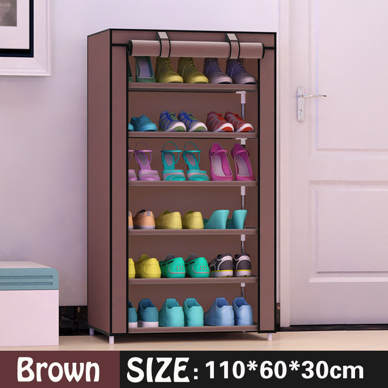 Shoe Cabinet 7 Layer 6 Grid Non Woven Fabrics Large Shoe Rack Organizer  Removable Shoe Storage For Home Furniture In Shoe Cabinets From Furniture  On ...