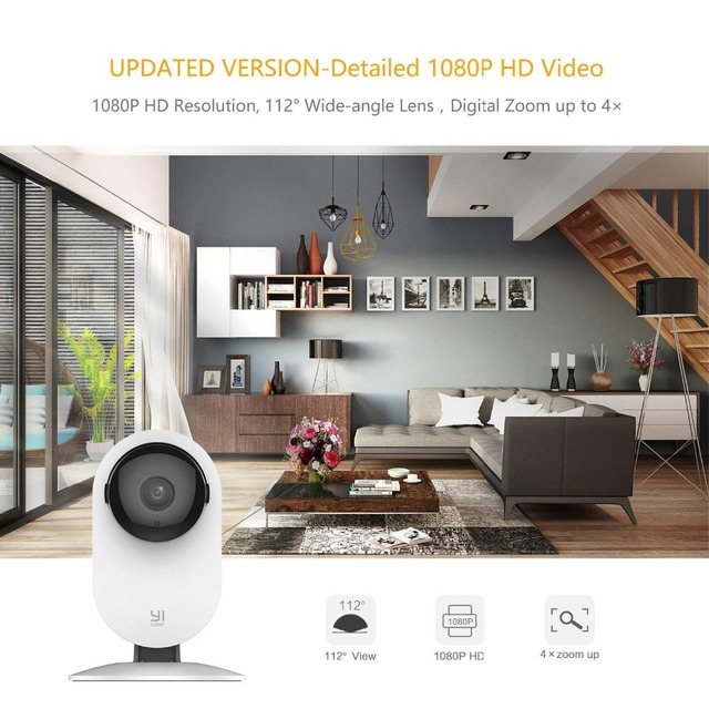 YI 1080p Home Camera Indoor IP Security Surveillance System with Night Vision for Home/Office/Baby/Nanny/Pet Monitor White 1