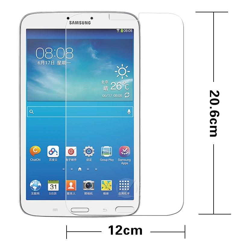 """فیلم شیشه ای پریمیوم با کیفیت برای سامسونگ GALAXY Tab 3 8.0 """"T311 T310 PC Tablet Anti-shatter LCD محافظ صفحه نمایش فیلم + بسته"""