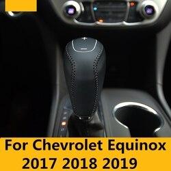 Para chevrolet equinox 2017 2018 2019 console central de couro engrenagem shift manga decorativa handbrake proteção acessórios da luva