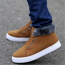 2016 fashion style flat shoes snow boots senior men's winter casual shoes breathable warm men's shoes size 39-44