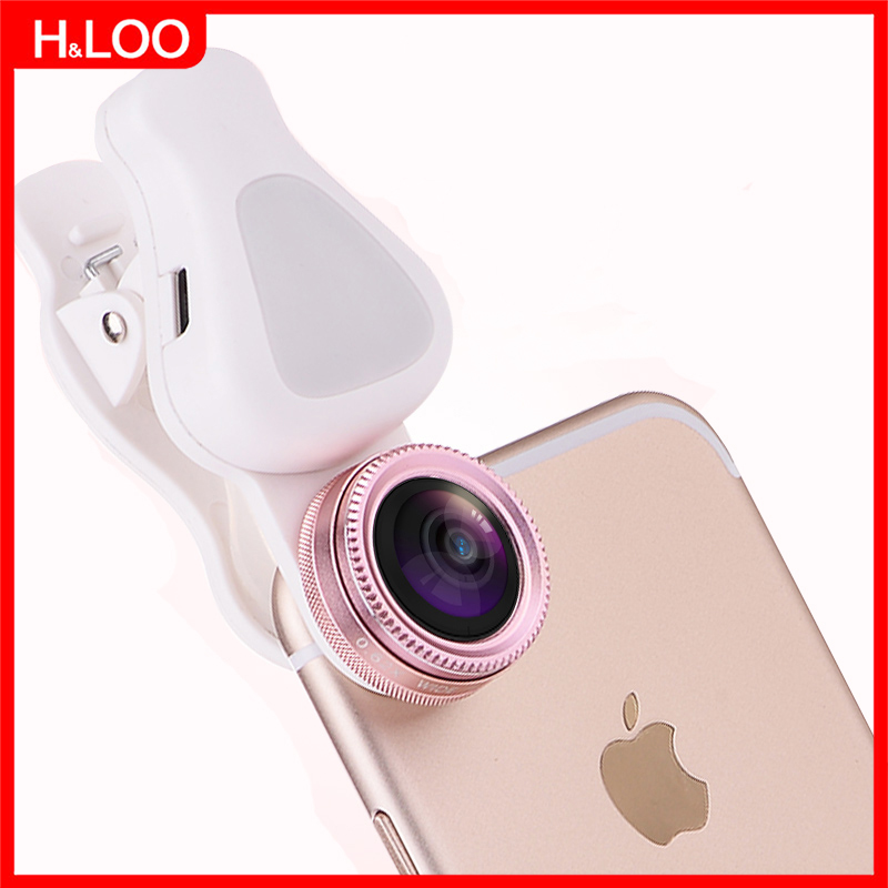 H&LOO Universal Clip 5 in 1 Fish eye lens HD smartphone camera lens wide angle macro Fil ...