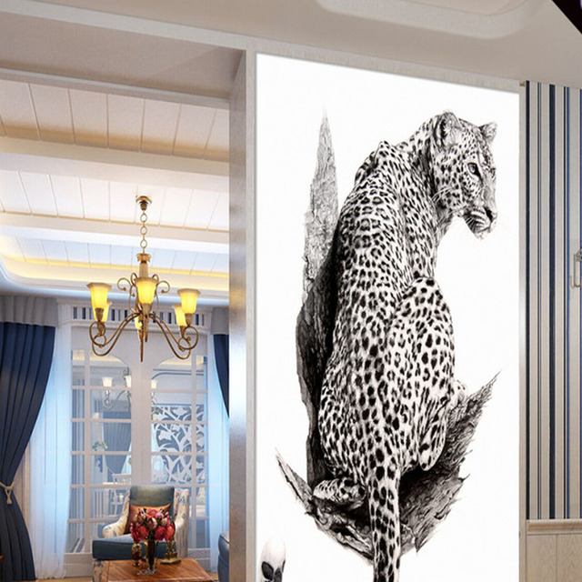 Etonnant Cheetah Hallway Mural Photo Wallpaper For Living Room Home Wall Art Decor  3D Painting Entrance MuralsDecorative