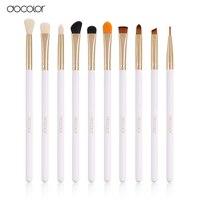 Docolor Professional 10 Pcs Sets Eye Shadow Concealer Eyebrow Lip Brush Makeup Brushes Comestic Tool Make