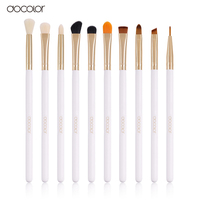 Docolor Professional 10 Pcs Sets Eye Shadow Concealer Eyebrow Lip Brush Makeup Brushes Comestic Tool Make