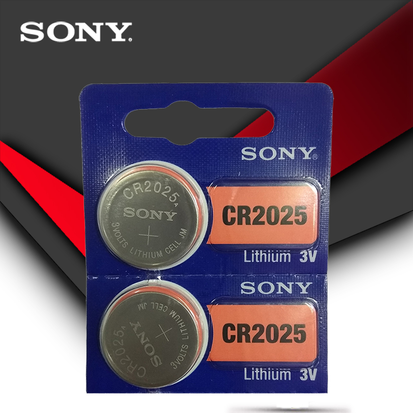 2PCS/LOT SONY Original Cr2025 Button Cell Batteries Cr2025 3V Lithium Coin Battery For Watch Calculator Weight Scale