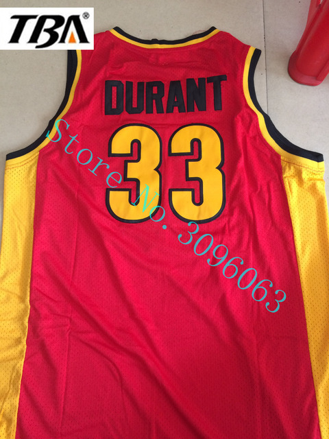 83156fd41 NEW Throwback Basketball Jerseys Mens  33 Kevin Durant Oak Hill High School  Embroidered Stitched Red Basketball Jerseys