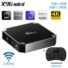 X96mini X96 mini Android 7.1 Smart TV BOX X 96 2GB/16GB 1GB/8GB Amlogic S905W Quad Core support 4K 30tps 2.4GHz WiFi Set top box цена
