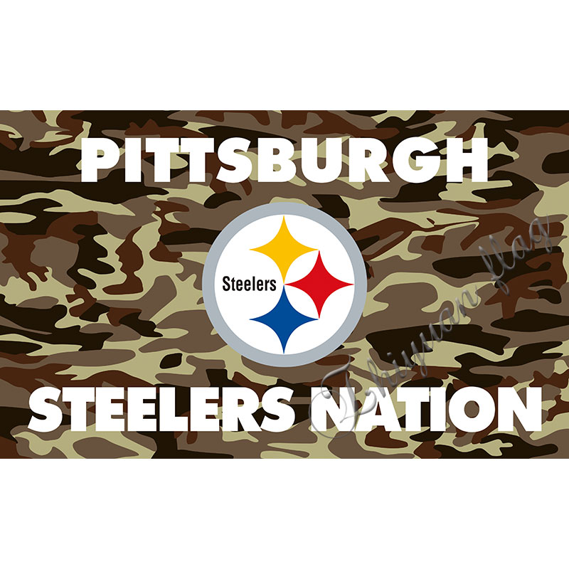 Pittsburgh Steelers flag Indoor Outdoor High Camouflage