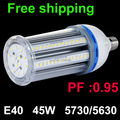 Коэффициент мощности 0 95 E40 светодиодная лампа 45 Вт SMD5630 5730 холодный белый/теплый белый супер яркость энергосберегающие 2014 Новейшие