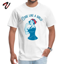 Code like a girl Casual Summer Satan Crewneck Men Tees Crazy T Shirts Brand New Anime Sleeve Top T-shirts