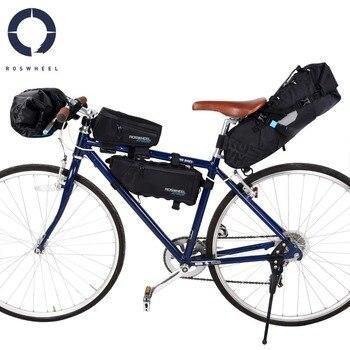672780e68f3 ROSWHEEL de bicicleta cabeza tubo delantero bolsa impermeable de nylon cola bolsas  bicicleta alforjas ataque serie