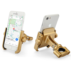 Image 5 - Evrensel alüminyum alaşım motosiklet telefon tutucu iphone 8 7 6s destek telefon Moto tutucu GPS bisiklet gidon tutucu