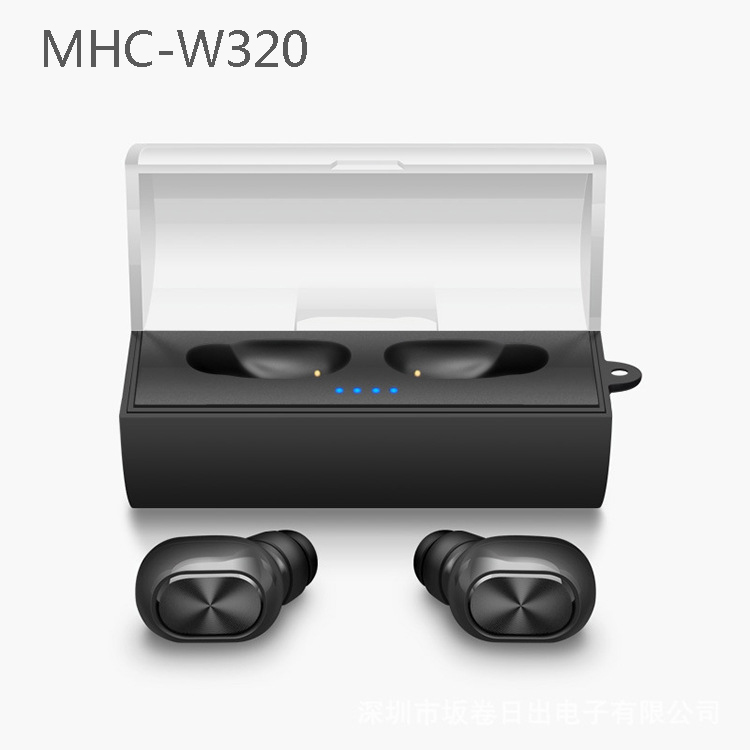 MHC W320 Twins True Wireless Bluetooth Earphone with Mic In-Ear Mini CRS 4.1 Bluetooth Earbuds with Portable Charger new dacom carkit mini bluetooth headset wireless earphone mic with usb car charger for iphone airpods android huawei smartphone