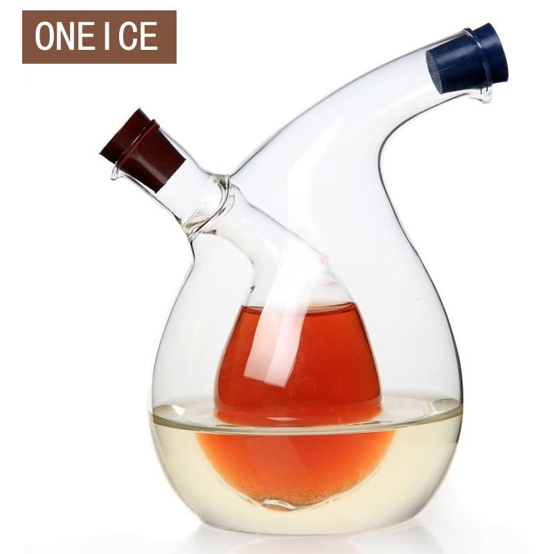 Monikäyttöinen suuri keittiö mausteöljypullo vihreä lasiöljyöljy voi vuotaa öljyä etikkaa kastike laadukkaita keittiö tarvikkeet