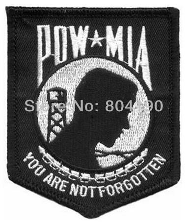 POW MIA United States Armed Forces Patch USA Iron on