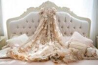 Светло Золотое кружево с аппликацией и бисером платье с цветочным узором для девочек красивое детское бальное платье для свадебной вечерин
