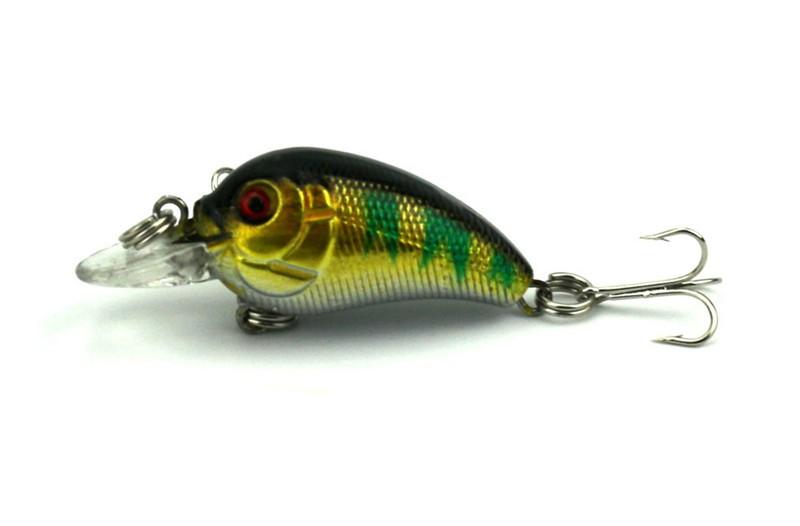 1x 4.5cm 4.2g Mini Fishing Lures Crank Baits 3d Fish Eye Simulation Minnow Crankbait Hard Plastic Laser Lure Bait Low Price (9)