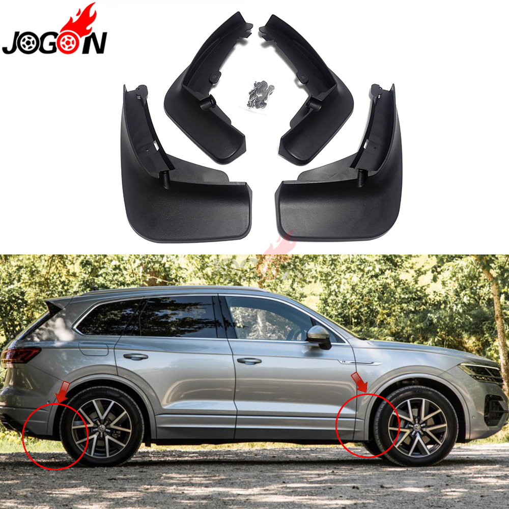 For VW Volkswagen Touareg MK3 2019 Car Front Rear Mud Fender Flaps Splash Guards Mudflaps Mudguard