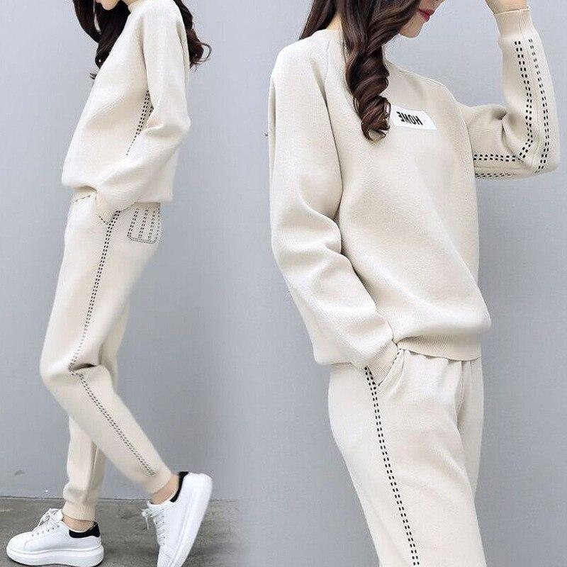 new fashion Women's Autumn winter Tracksuit Women sweatshirt 2 two Piece Set shirts+Long Pants)chandal mujer conjuntos de mujer