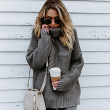 Women Pullover Jumper Turtleneck Sweater