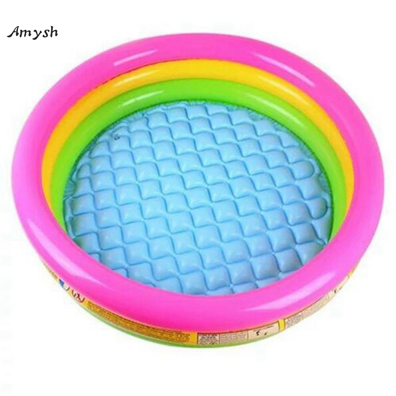 Amysh Fluorescent Trinuclear Inflatable Pool Baby Swimming