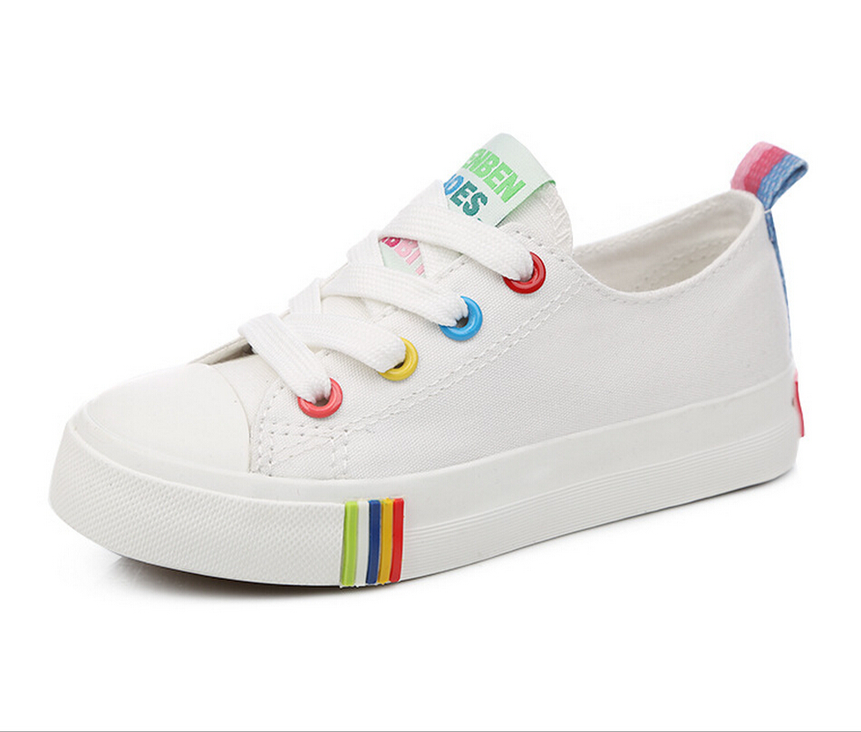 2016 new brand children casual shoes kids canvas shoes boys girls sport school sneakers baby girl Rubber Flat Canvas Shoes