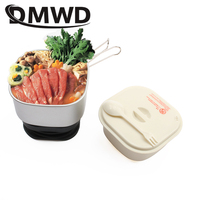 DMWD Dual Voltage Travel rice Cooker Portable Mini Electric stew soup pots cooking Machine Student hotpot food steamer 110V 220V|steamer electric|steamer food|steamer cooking pot -