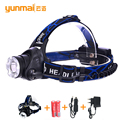 Headlamp Headlight 2000lumen zoomable lampe frontale fishing lanterna led flashlight xml t6 3 modes for camping hiking hunting
