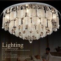 Tavan lambası kristal lamba daire cam tavan lambası oturma odası ışıkları modern kısa romantik yatak odası ışıkları iç mekan aydınlatması