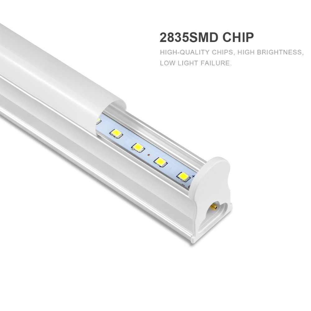 T5 светодиодный настенный светильник трубка 220V T5 Светодиодный лампа светодиодный шкаф светильник 6 Вт 10 Вт 300 мм 600 мм Люминесцентная T5 трубки Декор шкаф Кухня светильник Инж
