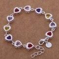 Plata colorida pulsera del zircon, plateado 2016 moda lindo joyería para mujer estampan 925 / ajfajama bvqakmxa H354