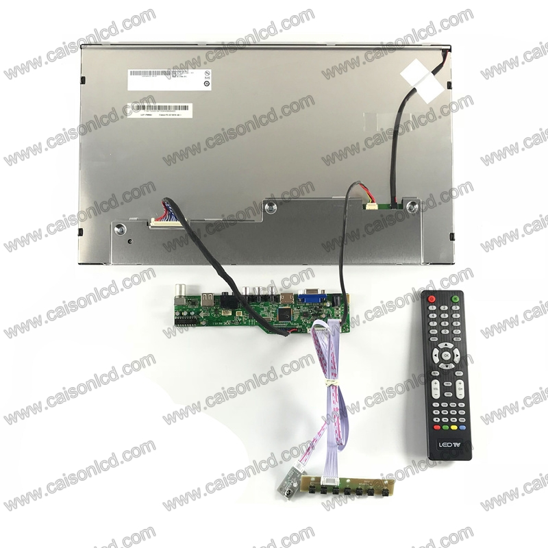 HDMI+VGA +AV+Audio LCD TV board + G173HW01 V.0 with 1920*1080+LVDS cable +Remote control and receiver +OSD keypad with cable hdmi vga av lcd tv board 21 5 inch lcd panel lvds cable inverter with cable osd keypad board remote control