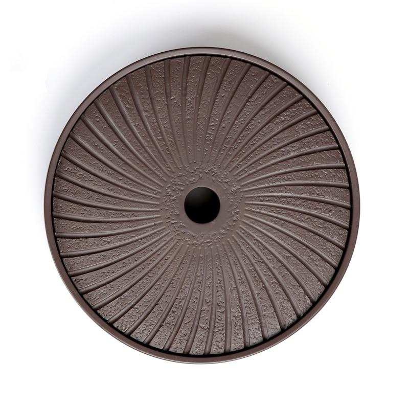 PINNY Yixing Purple Clay Round Tea Tray 20.7*20.7*4.2cm Chinese Tea Ceremony Table Hand Made Kung Fu Tea Tray Teapot Crafts Tray 1