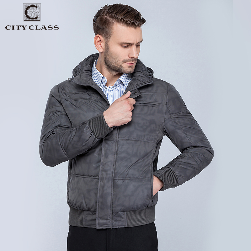 CITY CLASS Nya herrar vinter jackor mode fritid hatt kort - Herrkläder - Foto 3