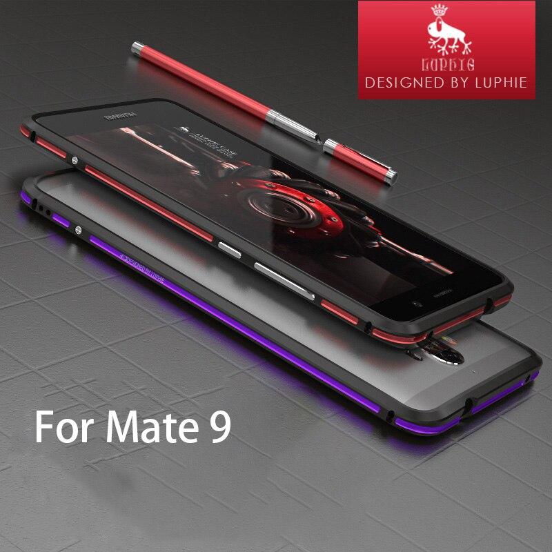 imágenes para Marca de lujo Para El Huawei Ascend Mate 9 Caso de Parachoques De Aluminio Caja de Metal Ultra Delgado Para Huawei Mate 9 Marco de Protección delgado
